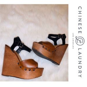 Chinese Laundry color block wedges